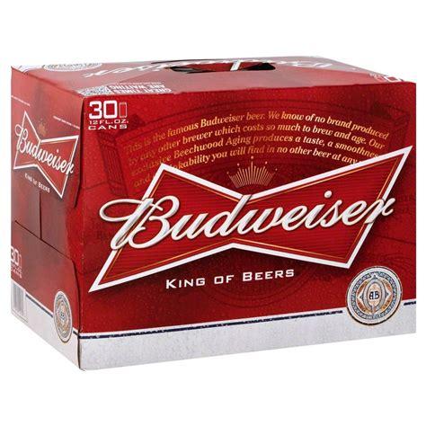 20 pack of bud light price upc 018200110306 budweiser beer cans 12 oz 30 pk
