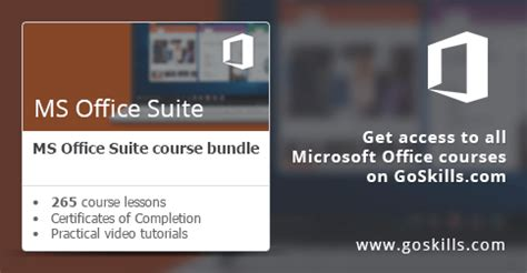 microsoft office suite course goskills