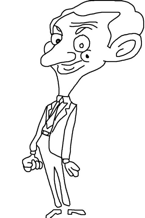 Mr Bean Printable Coloring Pages For Kids12 Mr Bean Colouring Pages