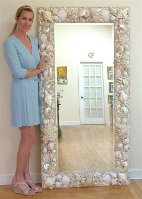 shell bathroom mirror all white and cream sea shell mirror 6 x 3 www