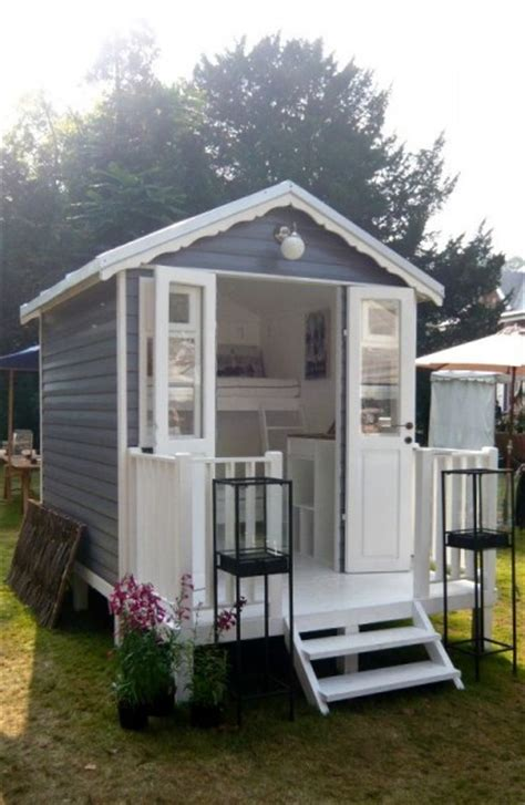 backyard micro house tiny bunk cabin on a trailer