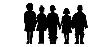 Silhouette Clip Free by Free Vector Children Silhouettes Vector Clip
