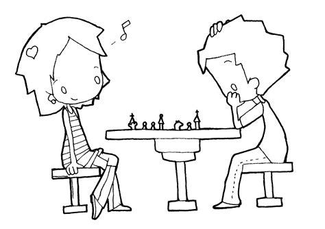 imagenes de niños jugando ajedrez dibujos para colorear ni 241 os haciendo silencio ideas