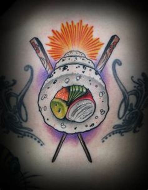 hungry bad photo quality but so funny tattoo sushi