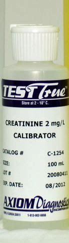 creatinine 5 mg dl axiom diagnostics products