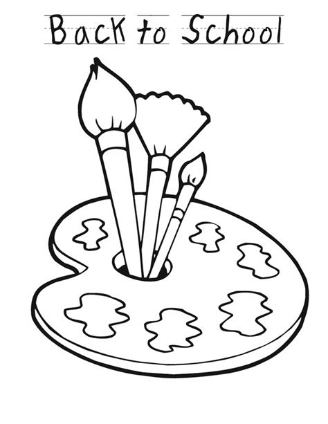 Back To School Paint Free Printable Coloring Pages Painting Pages