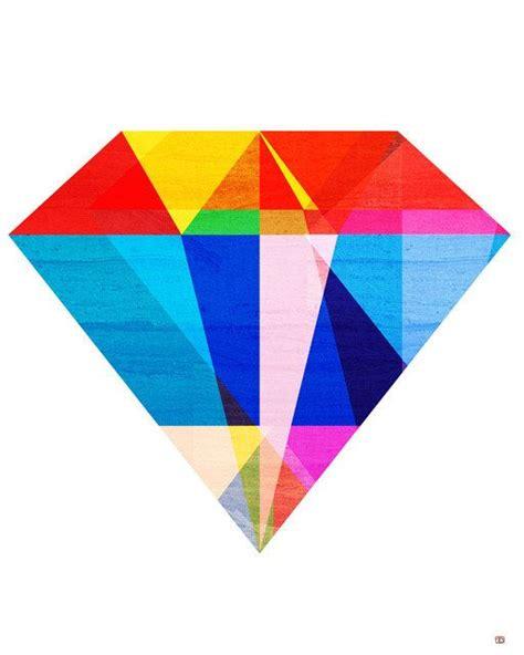 printable jewel shapes jewel tone i geometric diamond gemstone illustration art