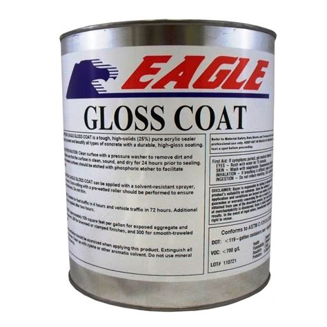 eagle 1 gal gloss coat clear look solvent based