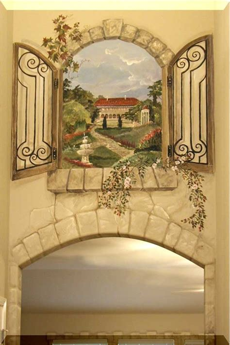 foyer mural two story foyer window mural murals finishes