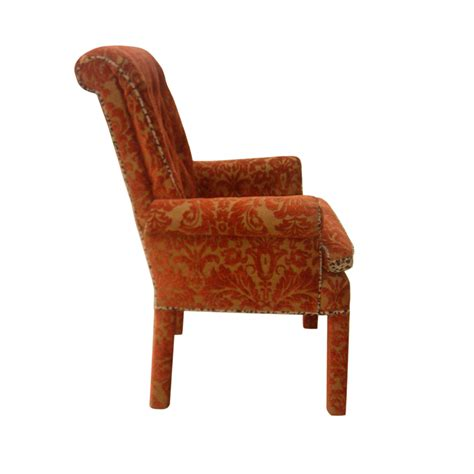 traditional armchair vintage traditional lounge armchair and footstool ottoman