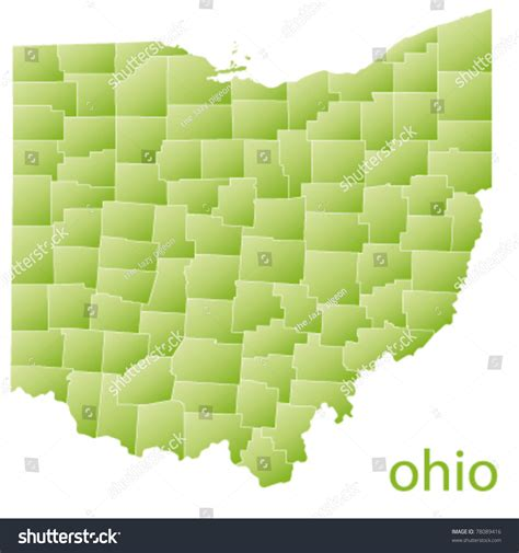 State Of Ohio Address Finder Map Of Ohio State Usa Stock Vector Illustration 78089416