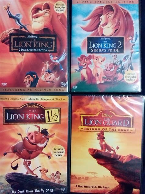 lion film collections my lion king dvd collection with the lion guard by