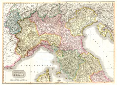 map of northern italy file 1809 pinkerton map of northern italy tuscany florence venice milan geographicus