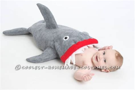 baby shark attack coolest baby shark attack costume using baby carrier