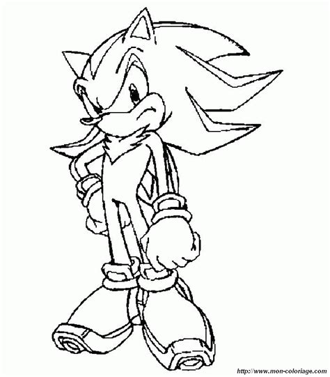 sonic et shadow colouring pages coloring home