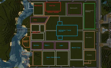 layout plan of town minecraft medieval town layout qph0szib jpg 1800 215 1100