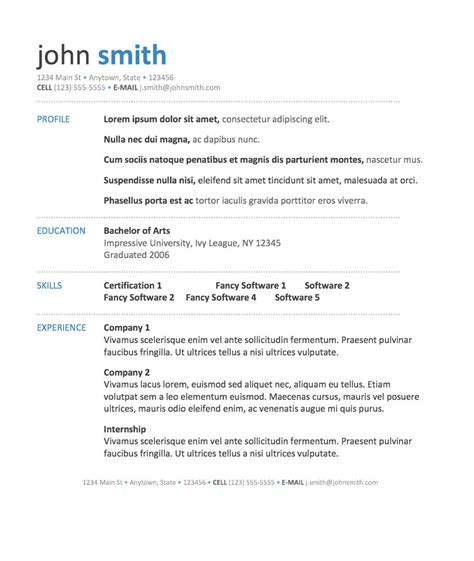 Resume Templates For Microsoft Word 10 Microsoft Word Resume Template Writing Resume Sle