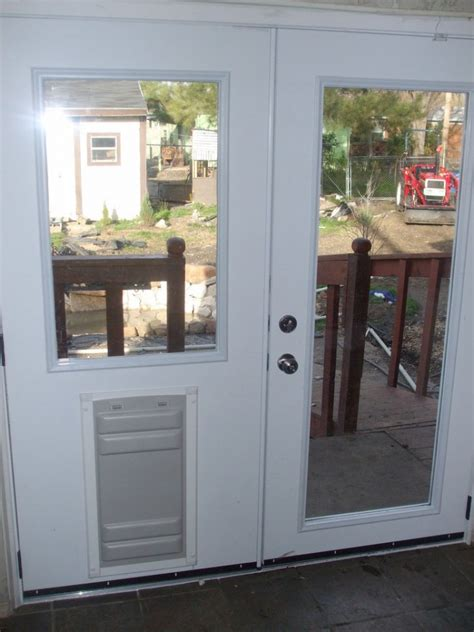 13 Breathtaking Doggie Doors For French Doors Design Pet Doors For Patio Doors