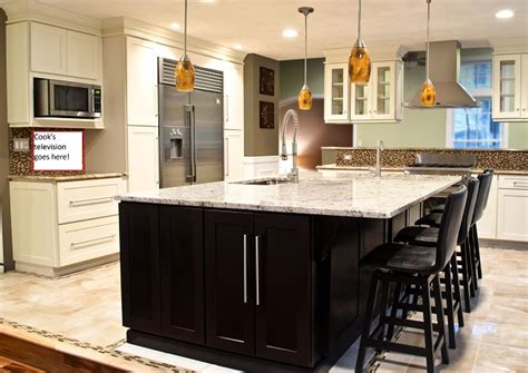 Center Island Kitchen Ideas Super Bowl Party Kitchen Center Island Amp Custom Bar