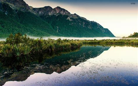 mountain lake  zealand wallpapers mountain lake