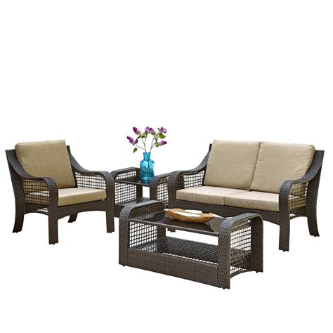 Accent Chair And Table Set Lanai Loveseat Accent Chair End Table And Coffee Table Homestyles