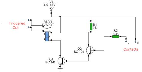 transistor npn relay water activated relay uses transistor bc108 simple schematic diagram