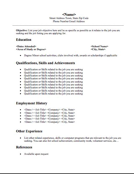student resume format a resume format for students business templated