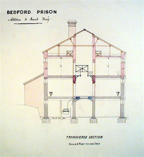 Victorian House Blueprints plans for bedford country gaol victorian crime and
