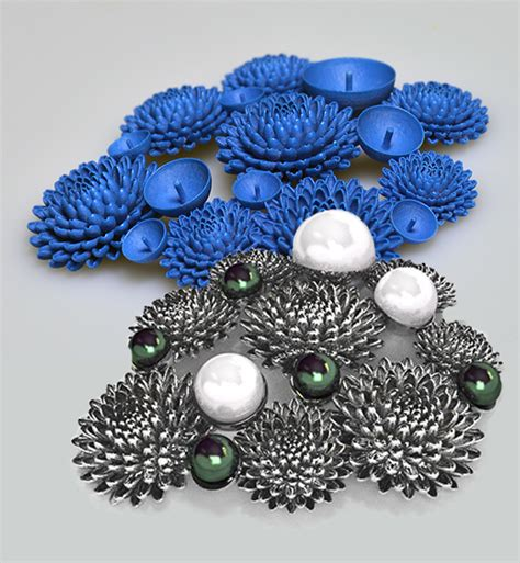 jewelry design contest 2015 chrysanthemum brooch design by hiroaki watanabe solidscape