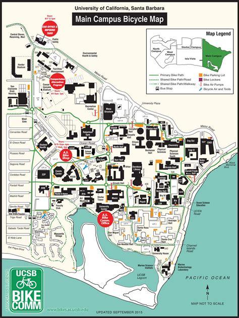 Bike Map Cus Bike Map Ucsb Associated Students Bike Committee