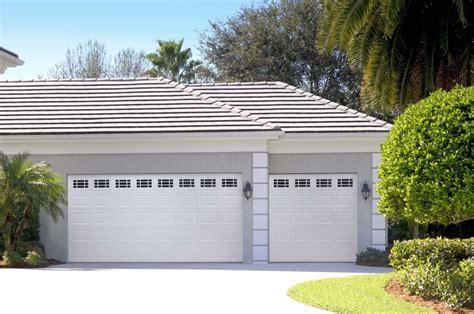 amarr panel garage door in true white with prairie
