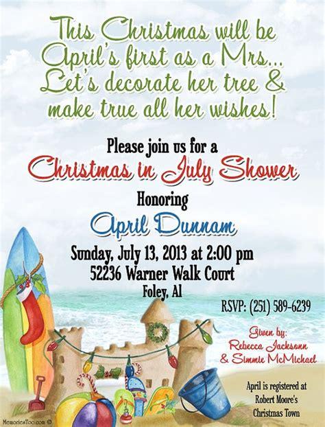 in july wedding shower invitations printable coastal in july invitation