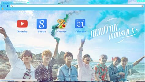 theme chrome monsta x monsta x 몬스타엑스 quot newton quot chrome theme themebeta