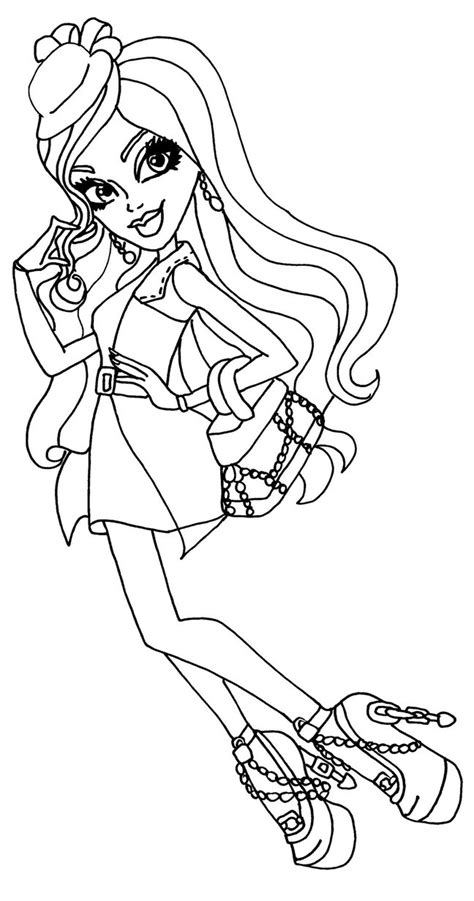 monster high ghouls coloring pages ghouls night out spectra by elfkena on deviantart