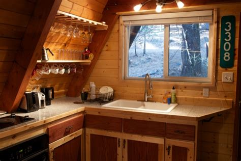 A Frame Kitchen Ideas | tiny cabin in california camouflaged in the woods