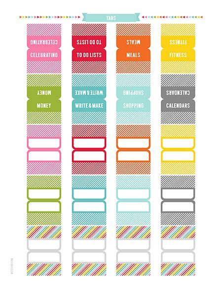 printable planner tabs 2016 everyday planner daily weekly monthly yearly