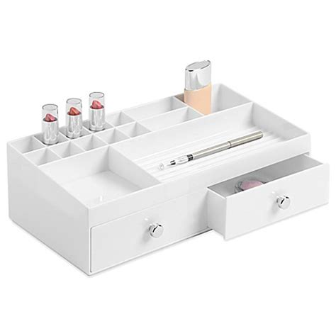 bed bath and beyond organizers interdesign 174 2 drawer cosmetic organizer in white bed