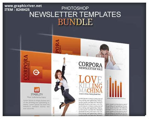 templates newsletter photoshop newsletter design template design trends premium psd