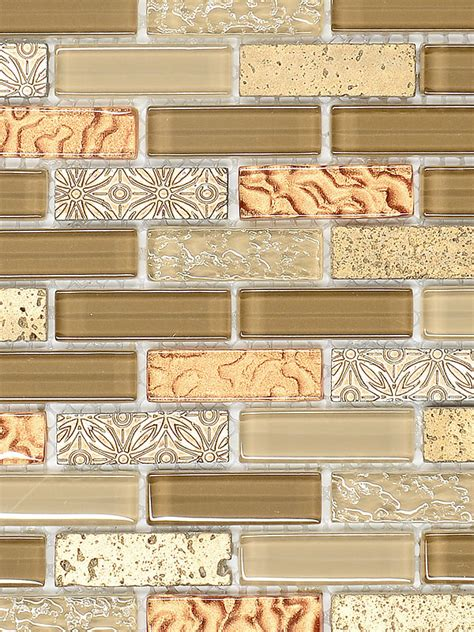 ba1167 glass travertine resin backsplash