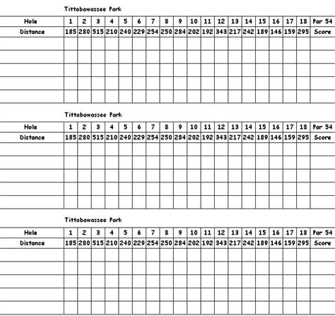 golf scorecards templates printable generic golf scorecard template car pictures