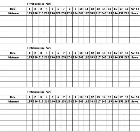 Scorecard Printable Scorecards Scorecard Template Basketball Scores Custom Golf Scorecard Template