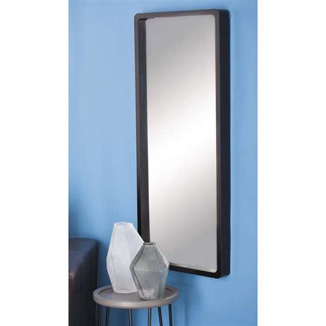 Modern Rectangular Wall Mirror by Modern Rectangular Black Wall Mirror 60151 The Home Depot