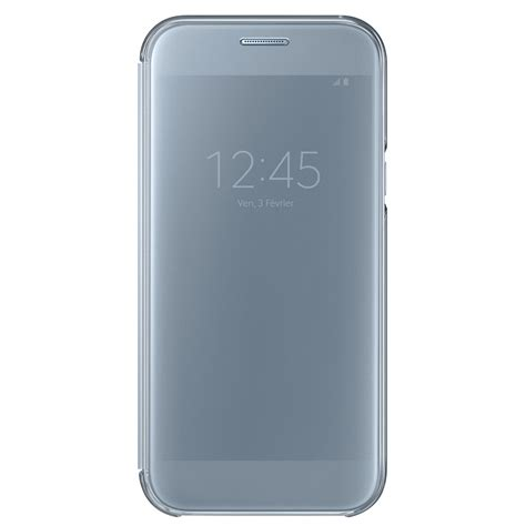 Clear View Cover Samsung A5 2017 samsung clear view cover bleu samsung galaxy a5 2017