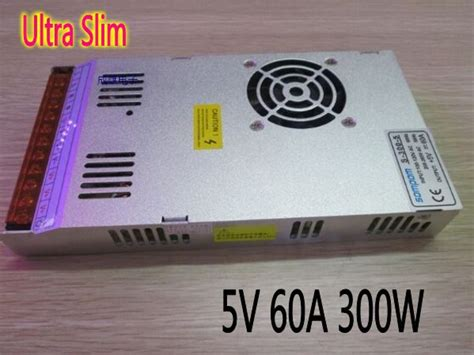 Power Supply 5v 60a Slim ultra slim 5v 60a 300w switching power supply adapter led driver project panel transformers in