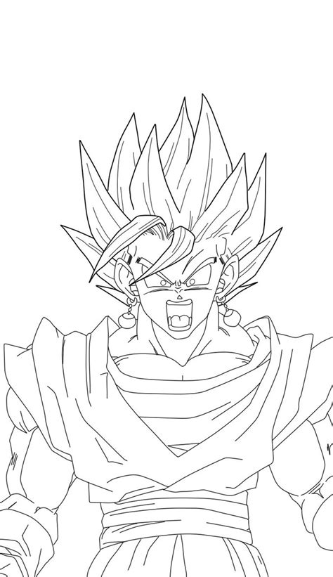 super vegito coloring pages coloring pages