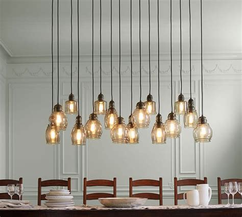 Pottery Barn Lighting Pendant Paxton Glass 16 Light Pendant Pottery Barn