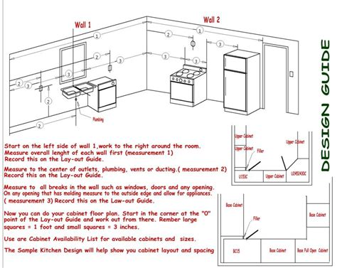 table layout guidelines kitchen design guidlines