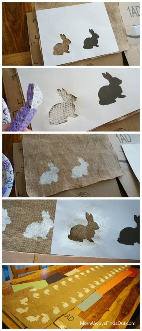 Diy Table Runner by Diy Easter Decorations Bunnies And Burlap Table Runner
