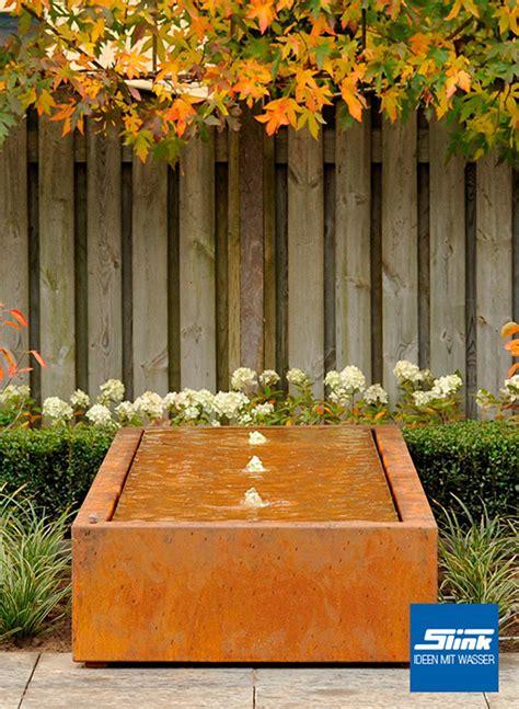gartenbrunnen cortenstahl gartenbrunnen cortenstahl kubus tisch 4 400 kaufen