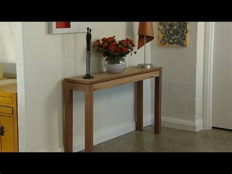 simple hall table plans plans diy   diy window
